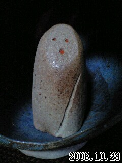 陶人形灯り